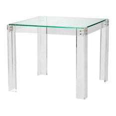 Interlude Gwenyth Modern Classic Acrylic Hinge Game Table