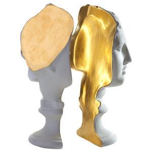 Ceramic Venus Lamp, White and 24 Carat Gold