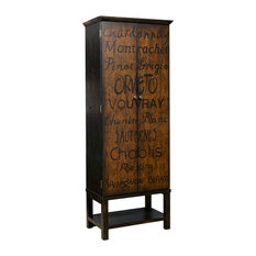 Exceptional R2H   Hand Painted Tall Wine Cabinet   Wine And Bar Cabinets