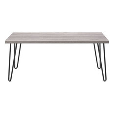 Fastfurnishings Modern Classic Vintage Style Coffee Table With Wood Top And Metal Legs Coffee