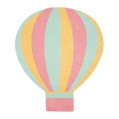"""Martha Stewart Hot Air Balloon Rug, Peony, 5'7""""x6'5"""""""