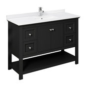 """Fresca Manchester 48"""" Black Cabinet With Top and Sink"""