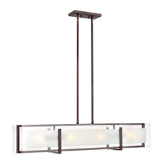 Hinkley Latitude Chandelier 4-Light Linear, Oil Rubbed Bronze