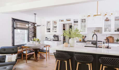 Bright, White and Open Kitchen for a Michigan Family