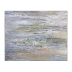"Uttermost ""Misty Morning"" Hand-Painted Art, 48""x36"""
