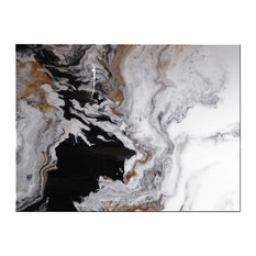 """Contemporary Modern Resin Coated Painting Limited Edition 48""""x36"""" """"Tributary"""""""