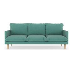 Abbey Sofa Linen Weave Blue Lagoon