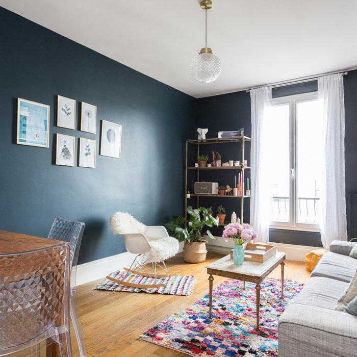 Avant / Après : un 50 m² haut en couleurs à Saint-Denis
