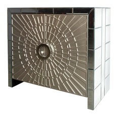 Statements by J - La Croisette Mirrored Cabinet - Accent Chests and Cabinets