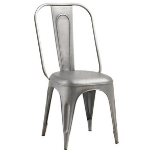 Cosmo Metal Dining Chairs, Grey, Set of 2