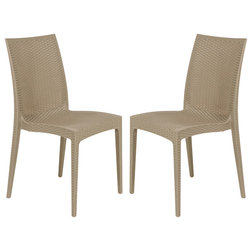 Tropical Outdoor Dining Chairs by LeisureMod