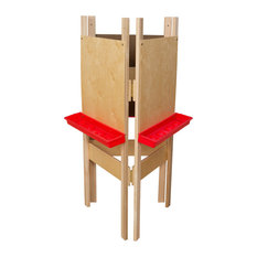3-Sided Adjustable Easel With Plywood, Red Tray