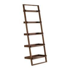 Ladder Wooden Wall Shelf, Natural