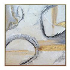 "Jensen I Framed Canvas Art, Hand Painted Abstract, 1.5"" Frame"
