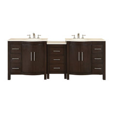 "89"" Modern Double Bathroom Vanity"