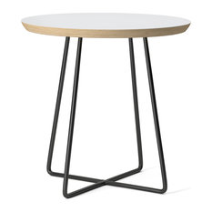 Society6 Side Table, Birch, Steel, White Coconut Sorbet Ice Cream Gelato Ices