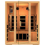 JNH Lifestyles - JNH Lifestyles Joyous 3-Person Far-Infrared Sauna - Eight (8) Carbon Fiber Far Infrared Heaters.