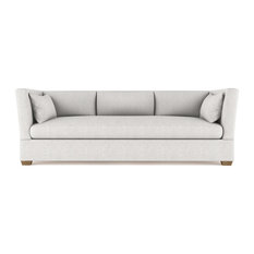 Tandem Arbor - Rivington 8' Velvet Sofa, Silver Streak Extra Deep - Sofas