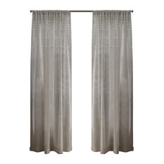 "Davos Belgian Linen Sheer Rod Pocket Curtain, Set of 2, Linen, 54""x84"""