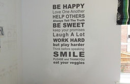 Rules of the House Wall Sticker