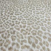 Wallpaper ivory gold metallic textured leopard animal skin, 27 Inc X 33 Ft Roll