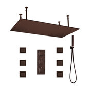 """Martinique 20""""X40"""" Large Oil Rubbed Bronze Solid Brass LED Rain Shower Head"""