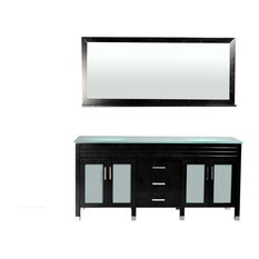 "Belmont Decor Dayton 72"" Double Sink Vanity, Black"