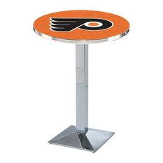 Philadelphia Flyers Pub Table w/Orange Background 36-inchx36-inch by Holland Bar Stool Company