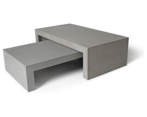Table basse beton concrete coffee table - Table basse imitation beton ...