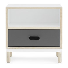 Kabino Bedside Table Gray
