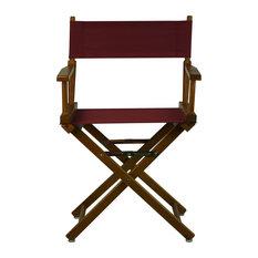 "18"" Director's Chair With Honey Oak Frame, Burgundy Canvas"