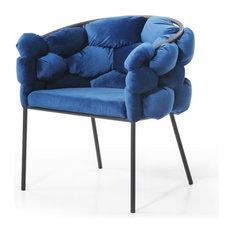Modrest Debra Modern Blue Fabric Dining Chair