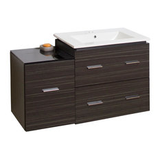 Plywood-Melamine Vanity Set, Dawn Gray