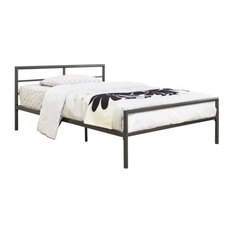 Bowery Hill - Bowery Hill Full Platform Iron Bed, Gunmetal - Panel Beds