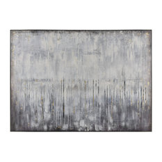 Modern Artificial Abstract Wall Decor In Grey And White 1219-058