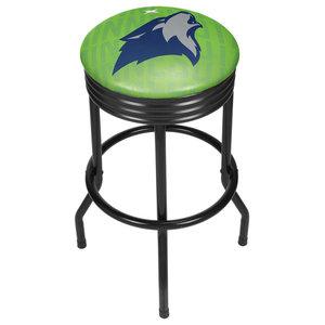 Marvelous Nhl Black Ribbed Bar Stool San Jose Sharks Contemporary Ibusinesslaw Wood Chair Design Ideas Ibusinesslaworg
