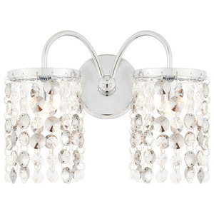 Rosemont 2-Light Wall Light, Polished Chrome
