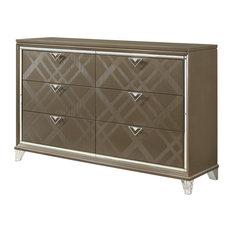 Acme Skylar Dresser With Dark Champagne Finish 25325