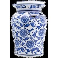 Claybarn Blue Garden Begonia Podium Stool