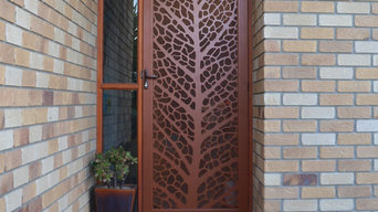Laser cut security door by Decoview