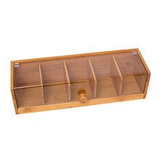 Bamboo Tea Box With Acrylic Cover