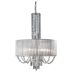 Empress Crystal Glass 6-Light Pendant