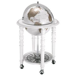 The MacArthur Contemporary Italian Bar Globe, White