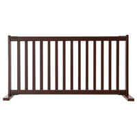 Kensington Series Solid Wood Pet Gate, Mahogany, Large