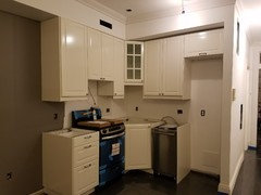 Our Tiny Kitchen Using The Ikea Corner Sink Hack Came Out Beautiful With 24 Inch Wide Liances Dishwasher Is 18 We Paid Installers