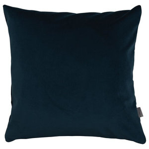 A.U. Maison Teal Blue Velvet Cushion Cover, 45x60 cm