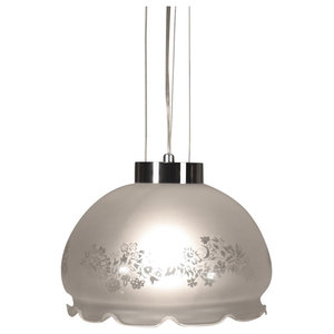 Belle S1 Steel and Glass Pendant Lamp