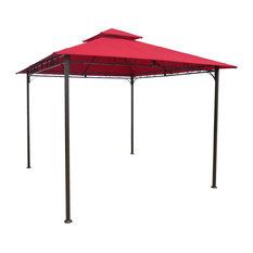 St. Kitts Vented Canopy Gazebo - Bronze/Ruby Red