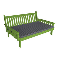 Painted Pine 6' Indoor/Outdoor Traditional English Day Bed, Lime Green Paint