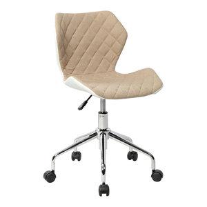Techni Mobili Modern Height Adjutable Office Task Chair, Beige